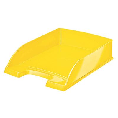 Corbeille à courrier Leitz Wow jaune métallisé 35,7x7x25,5 cm