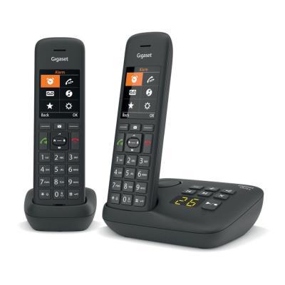 Téléphone sans fil C575A Duo avec répondeur Gigaset - noir (photo)