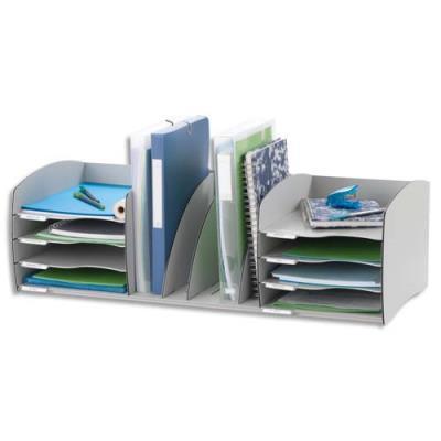 Organiseur de bureau Evolution L de Paperflow - gris - 79,5 x 24,5 x 34 cm