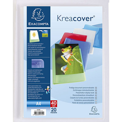 Protège document personnalisable Exacompta - PP Kreacover - 40 vues assortis (photo)