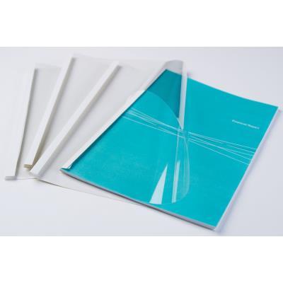 Couvertures thermiques Fellowes - A4 - 6 mm - 150µ+200g - blanches - boîte de 100
