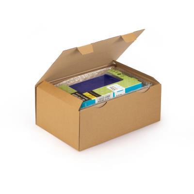 Boîte d'expédition en carton Raja - simple cannelure - L.43 x l.30 x H.18 cm - brun (photo)