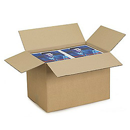 Caisse carton brune - simple cannelure - 43 x 30 x 30 cm - lot de 25 (photo)