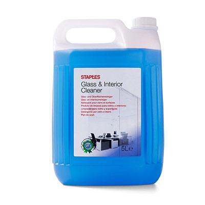 Nettoyant Verre & Intérieur - senteur citron frais - prêt à l'emploi - bleu - 5 l - bouteille 5 litres (photo)