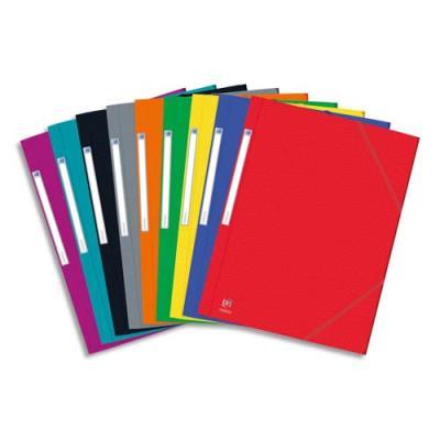Chemise 3 rabats et élastique Eurofolio - carte lustrée 5/10e - coloris assortis
