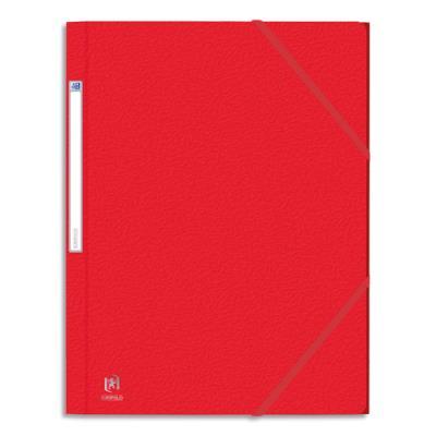 Chemise 3 rabats et élastique Elba Eurofolio - carte grainée 5/10ème - 24 x 32 cm - rouge (photo)