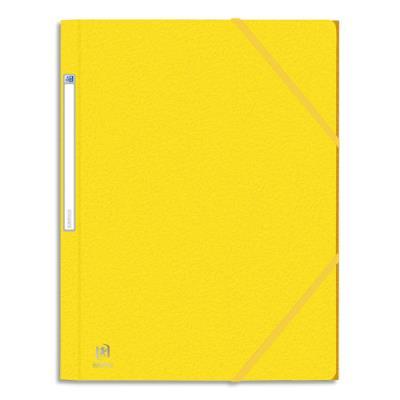 Chemise 3 rabats et élastique Elba Eurofolio - carte grainée 5/10ème - 24 x 32 cm - jaune (photo)