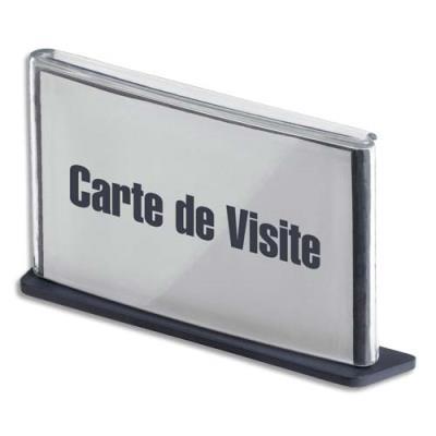Porte carte de visite 3 en 1 fast bureau ou plaque de porte ou banni re coloris anthracite - Plaque de porte de bureau ...