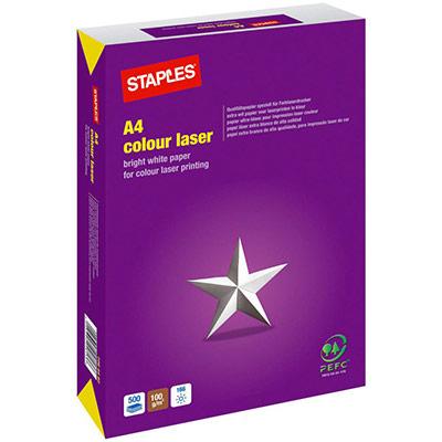 Papier A4 blanc 100g Colour laser - ramette de 500 feuilles (photo)
