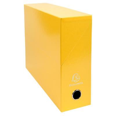 Boîte de transfert Exacompta Iderama - carte lustrée pelliculée - dos 9,5 cm - 34 x 26 cm - jaune