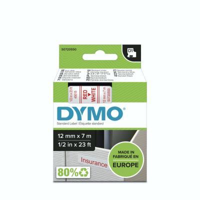 Ruban Dymo D1 - 45015 - Ruban rouge/blanc - 12 mm x 7 m