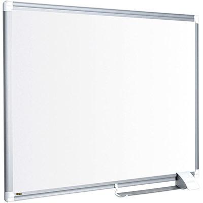 Tableau blanc Bi-Office Maya New Generation - surface en émail - magnétique - cadre en aluminium - 900 x 1200 mm