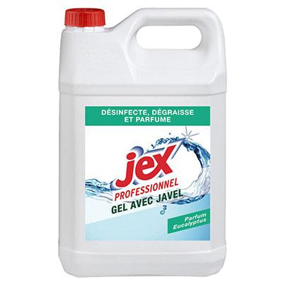 Gel nettoyant avec javel - Jex - parfum frais et agréable - bidon de 5L