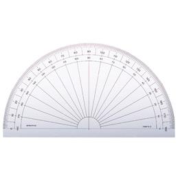 Rapporteur Minerva - 1/2 cercle 15 cm, 180° - gradué en degrés (photo)