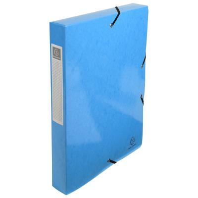 Boîte de classement Exacompta Iderama - carte pelliculée 7/10e - dos 4 cm - bleu