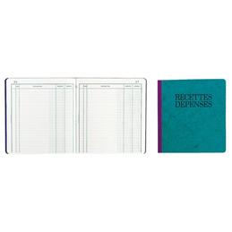 Cahier piqûre recettes/dépenses Exacompta - 21 x 19 cm - 80 pages (photo)