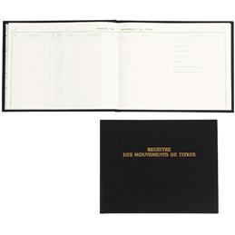 Registre à l'italiennedes mouvements de titres Exacompta - 24x32cm - 100 pages