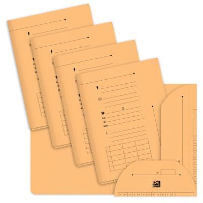 Chemise sous-dossier 2 rabats en carte - capacité 200 feuilles A4- Saumon - paquet 25 unités