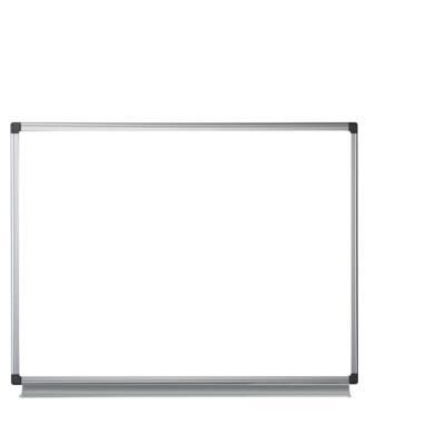 Tableau blanc émaillé NF Bi-Office - magnétique - cadre aluminium anodisé - 90 cm x 60 cm