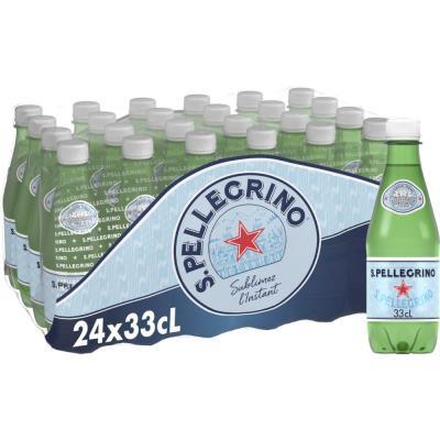 Bouteille d'eau minérale gazeuse San Pellegrino - 33 cl (photo)