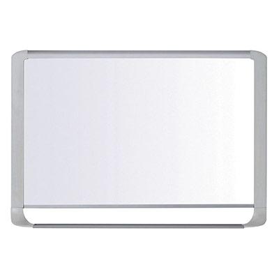 Tableau blanc magnétique Bi-Office MasterVision - émaillé - surface brillante blanche - cadre gris clair - 1 200 x 900 mm