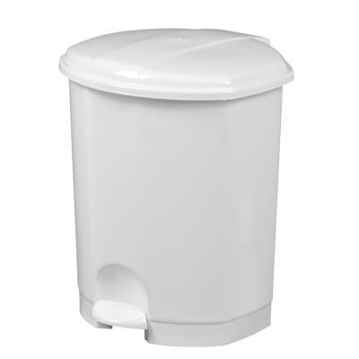 Poubelle à pédale Prima - 11 litres - blanc