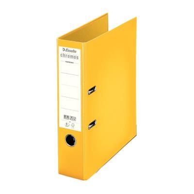Classeur à levier Esselte Chromos Plus - polypropylène - dos 8 cm - A4 - jaune