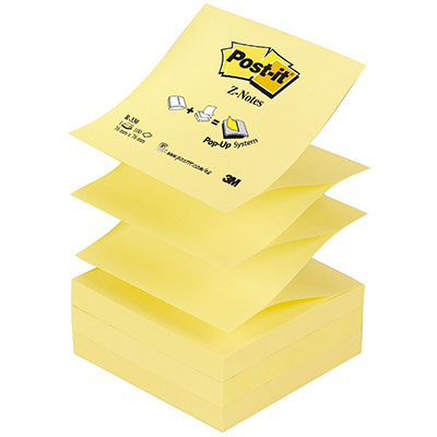 Z-Notes Post-it - format 76 x 76 mm - jaune