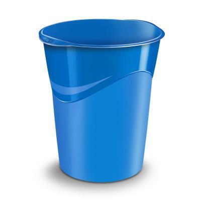 Corbeille à papier Cep Gloss 280 G - 14 litres - 305 x 290 x 334 mm - polypropylène - bleu océan (photo)