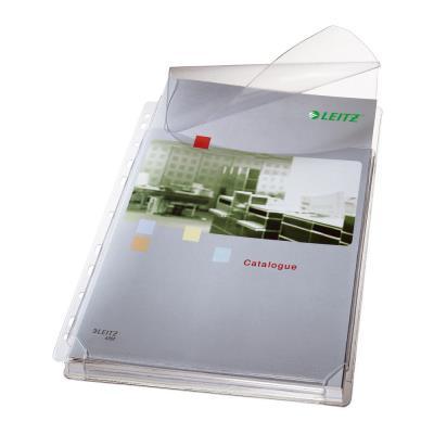 Pochettes-plan perforées Leitz - PVC 17/100e - soufflet 2 cm - A4 - sachet de 5