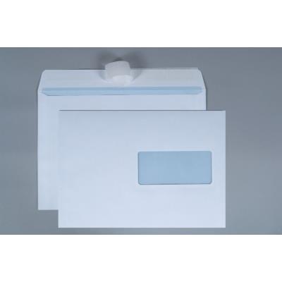 Enveloppe blanche La Couronne - format C5 - 229 x 162 mm - avec fenêtre - 100 g/m² - fermeture avec bande autoadhésive - paquet 200 unités