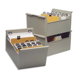 Boîte à fiches Val-Rex - sans couvercle - format 148x210 - en largeur (photo)