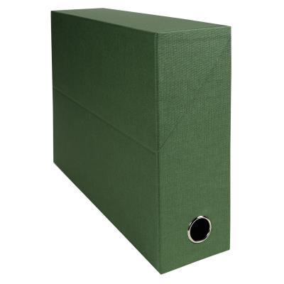 Boîte de transfert Exacompta - en carton rigide recouvert de papier toilé - dos 9 cm - vert