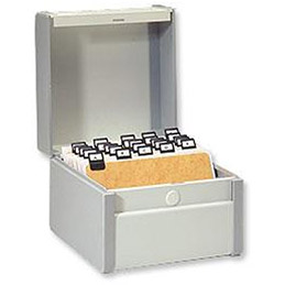 Boîte à fiches Val-Rex Provence - format 210x148 - en largeur - gris (photo)