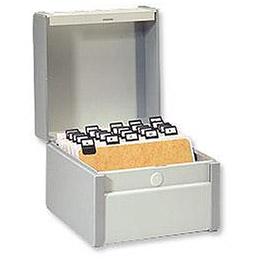 Boîte à fiches Val-Rex Provence - format 75x125 - en largeur - gris (photo)