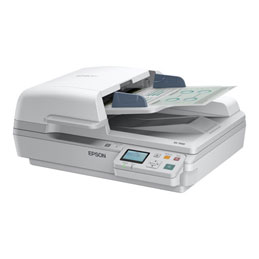 Epson WorkForce DS-6500N - Scanner de documents - Recto-verso - A4 - 1200 dpi x 1200 dpi - jusqu'à 25 ppm (mono) / jusqu'à 25 ppm (couleur) - Chargeur automatique de documents (100 feuilles) - jusqu'à 3000 pages par jour - USB 2.0, Gigabit LAN (photo)