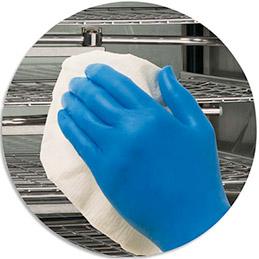 Boite 200 Gants Kleenguard actic Bleu nitrile taille  L (photo)