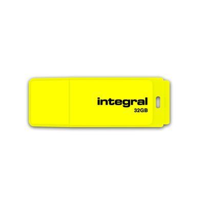 Clé USB 2.0 Néon - 32GB - jaune (photo)
