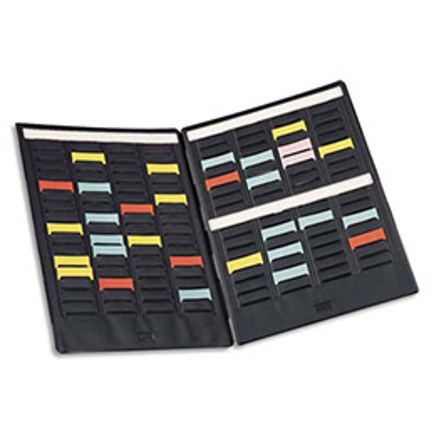 Paire de volets de couverture Val-Rex Mini-Planner - 3 bandes de 16 fiches - indice 2 (photo)