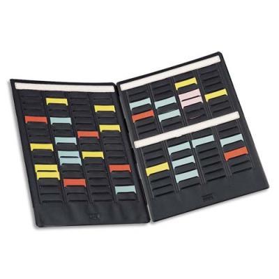 Paire de volets de couverture Val-Rex Mini-Planner - 4 bandes de 17 fiches - indice 1.5 (photo)