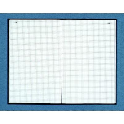 Registre toilé folioté 22,5X35 cm, 200 pages quadrillées 5x5 - Couverture noire (photo)