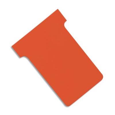 Fiches T planning Val-Rex - indice 2 - orange - paquet de 100 (photo)