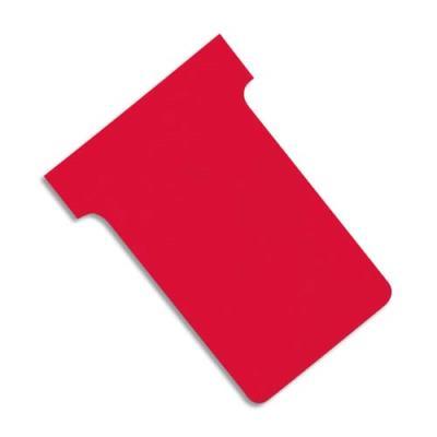 Fiches T planning Val-Rex - indice 2 - rouge - paquet de 100 (photo)