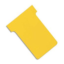 Fiches T planning Val-Rex - indice 1,5 - jaune - paquet de 100 (photo)