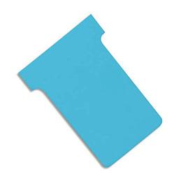 Fiches T planning Val-Rex - indice 1 - bleu clair - paquet de 100 (photo)