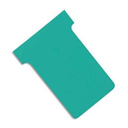 Fiches T planning Val-Rex - indice 1 - vert - paquet de 100 (photo)
