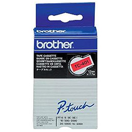 Cassettes Rubans Brother TC401 - Ruban noir / rouge - Rouleau (1,2 cm x 7,7 m) (photo)