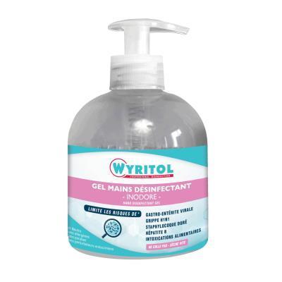 Gel désinfectant Wyritol pour les mains - hydro-alcoolique - sans parfum - 300 ml (photo)