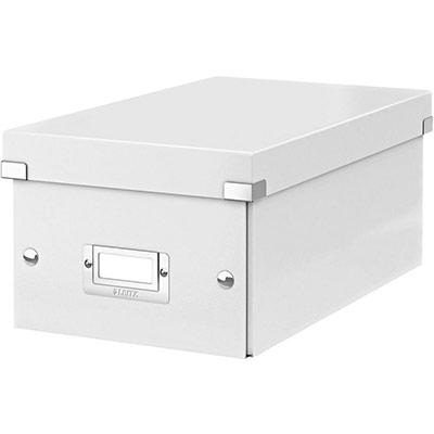 Boîte de rangement Leitz Click & Store pour DVD - blanc