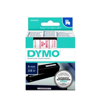 Ruban Dymo D1 - 40915 - Ruban rouge/blanc - 9 mm x 7 m